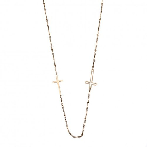 SENZA Steel Gold Plated Necklace SSD4159GD