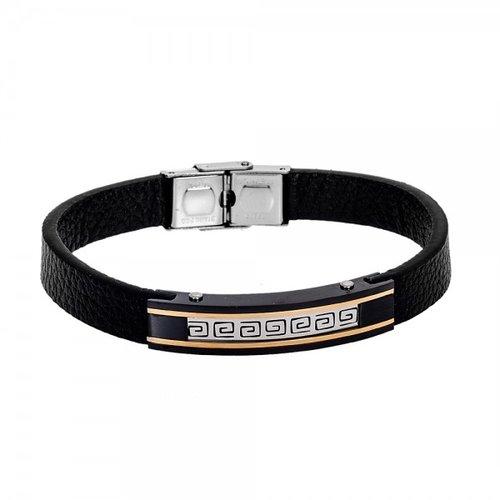 SENZA Steel Leather Bracelet SSD4236