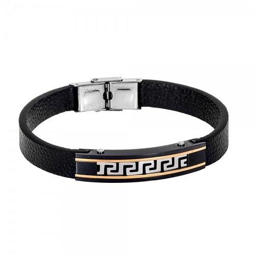 SENZA Steel Leather Bracelet SSD4237
