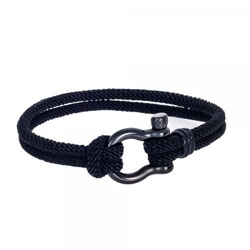 SENZA Steel Leather Bracelet SSD4240BK