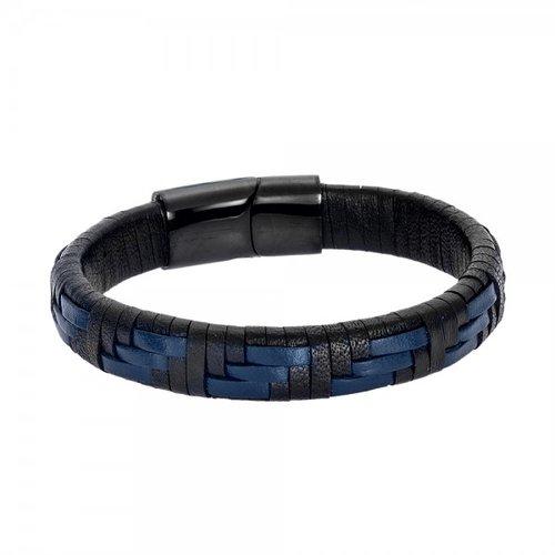 SENZA Steel Leather Bracelet SSD4243