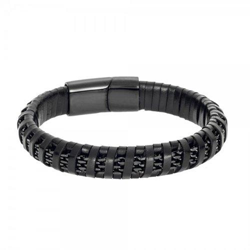 SENZA Steel Leather Bracelet SSD4244