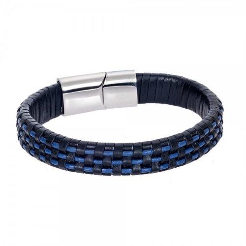 SENZA Steel Leather Bracelet SSD4245BB