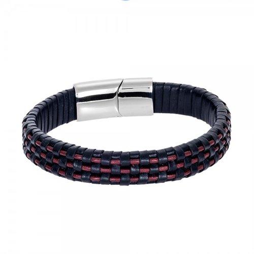 SENZA Steel Leather Bracelet SSD4245RB