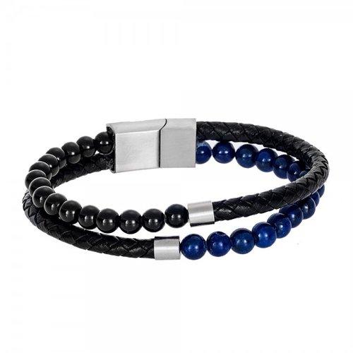 SENZA Steel Leather Bracelet SSD4246