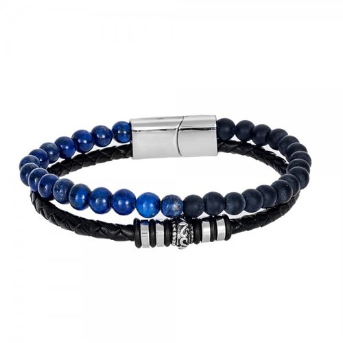 SENZA Steel Leather Bracelet SSD4247