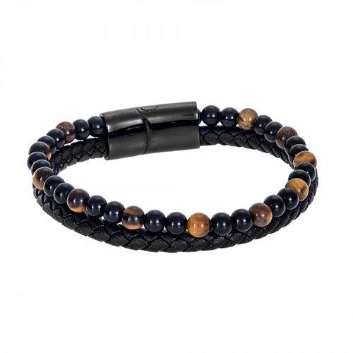 SENZA Steel Leather Bracelet SSD4249