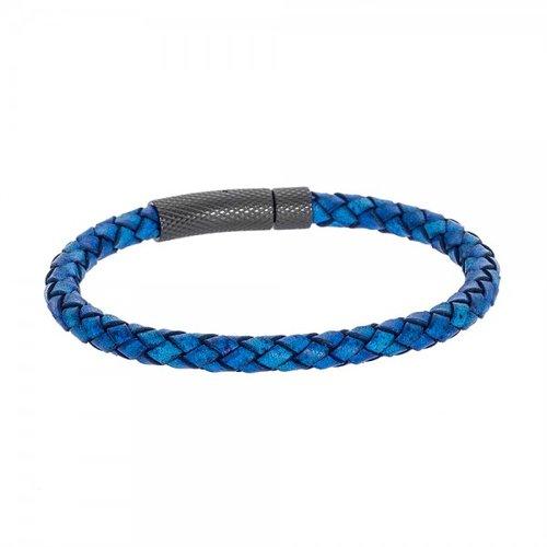 SENZA Steel Leather Bracelet SSD4251BL