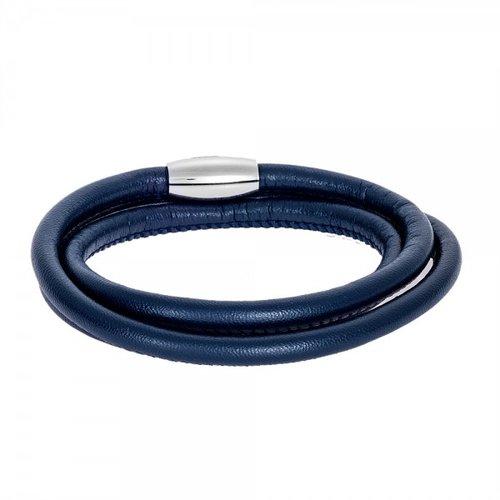 SENZA Steel Leather Bracelet SSD4256BL