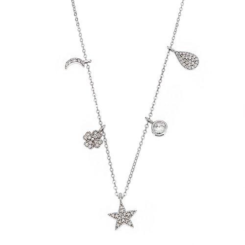 SENZA Silver 925 Necklace SSR2354SR