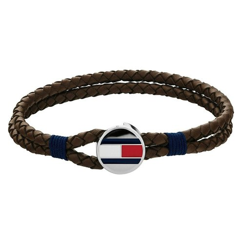 TOMMY HILFIGER Leather Stainless Steel Bracelet 2790207S