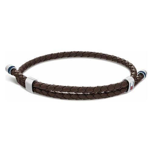 TOMMY HILFIGER Leather Stainless Steel Bracelet 2790223