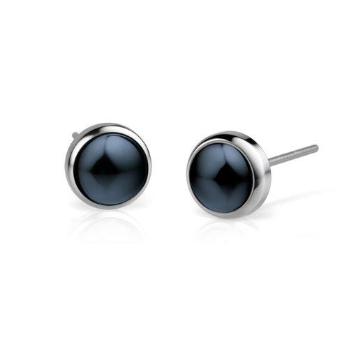 BERING Ceramic Link Stainless Steel Earrings 701-17-05