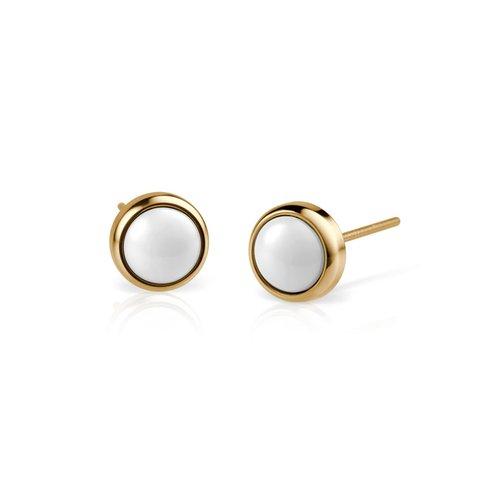 BERING Ceramic Link Stainless Steel Earrings 701-25-05
