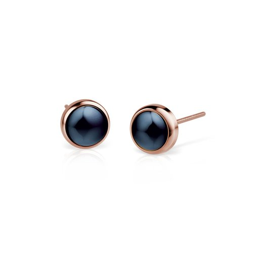 BERING Ceramic Link Stainless Steel Earrings 701-37-05