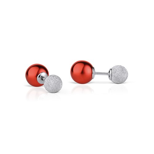 BERING Arctic Symphony Sparkling Silver 925 Earrings 703-194-05