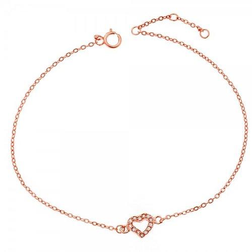 SENZA Silver 925 Rose Gold Plated Bracelet SSR2265RG