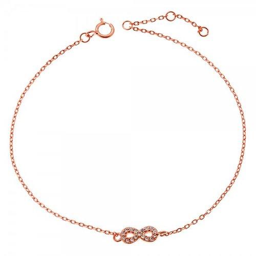 SENZA Silver 925 Rose Gold Plated Bracelet SSR2272RG