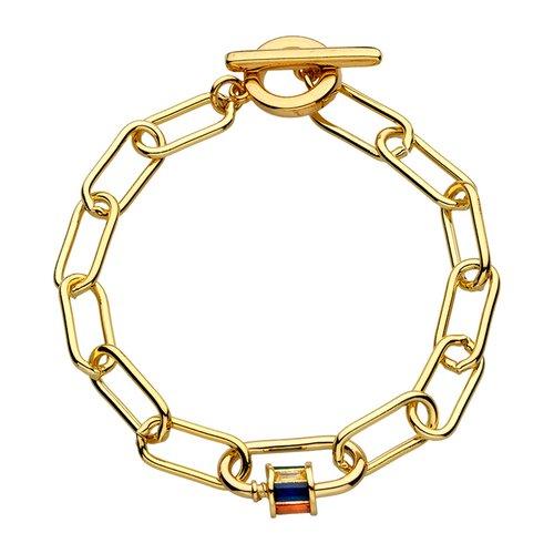 BREEZE Handmade Chain Gold Metal Crystals Bracelet 310006.1