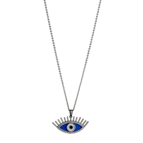 BREEZE Handmade Evil Eye Rose Stainless Steel Zircons 80cm Necklace 410010.6