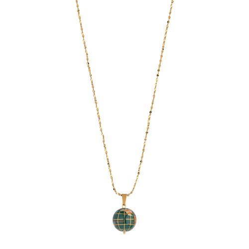 BREEZE Handmade Globe Gold Stainless Steel MOP 80cm Necklace 410012.1