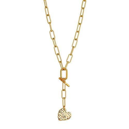 BREEZE Handmade Y Gold Metal Crystals 100cm Necklace 410016.1