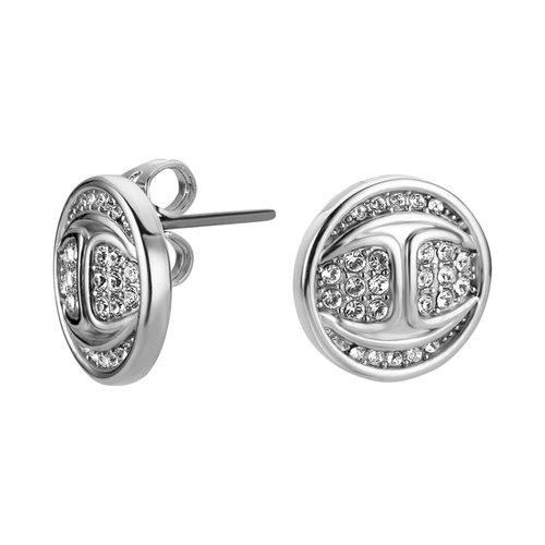 JUST CAVALLI Logo Stainless Steel Earrings JCER00720100