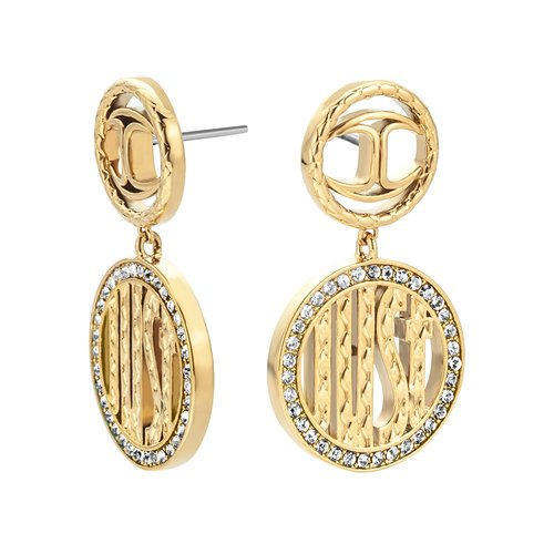 JUST CAVALLI Logo Gold Stainless Steel Earrings JCER00750200