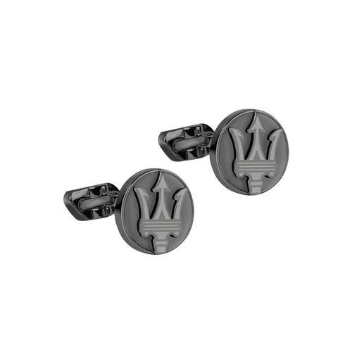 MASERATI Stainless Steel Cufflinks JM418ANK10