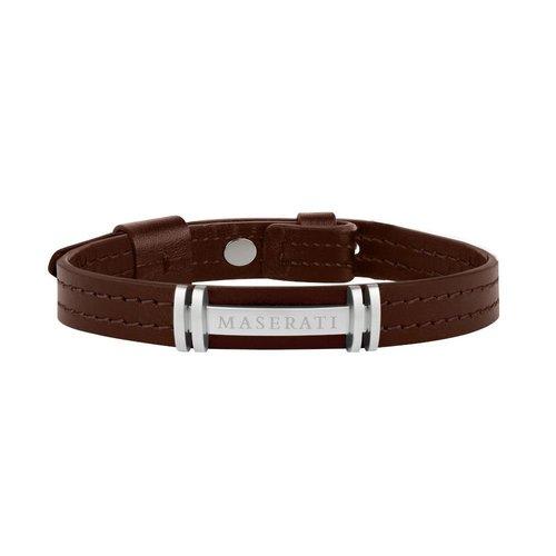 MASERATI Leather Bracelet JM418ANL08