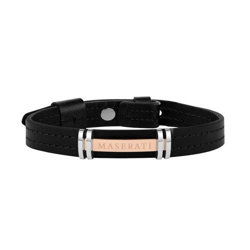 MASERATI Leather Bracelet JM418ANL09