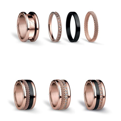 BERING Symphony Set Arctic Nights Stainless Steel Ring ARCTICNIGHTS