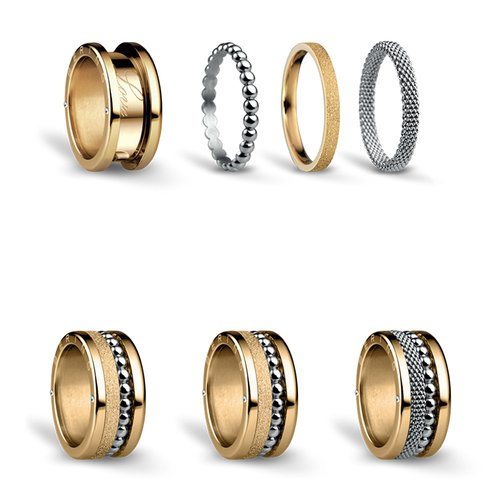 BERING Symphony Set Bicolour Stainless Steel Ring BICOLOUR