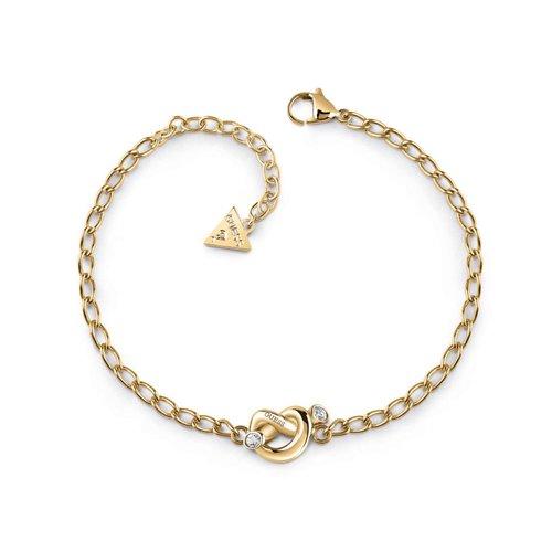 GUESS Steel Knot Χρυσό Βραχιόλι Με Κόμπο UBB29019-S