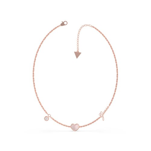 GUESS Steel Rose Gold Necklace UBN79017