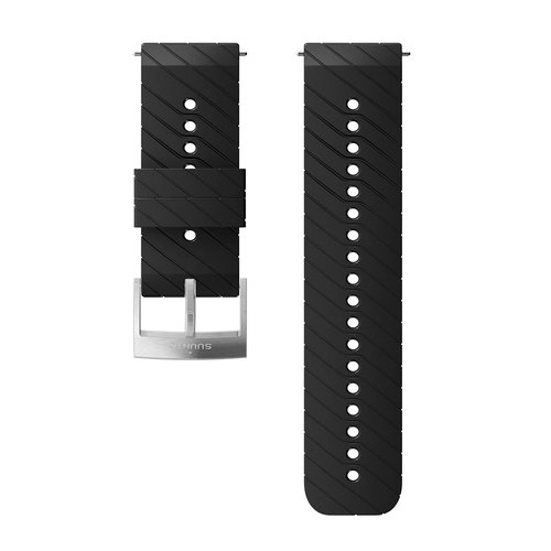 SUUNTO 24mm Athletic 3 Black Steel Silicon Strap SS050155000