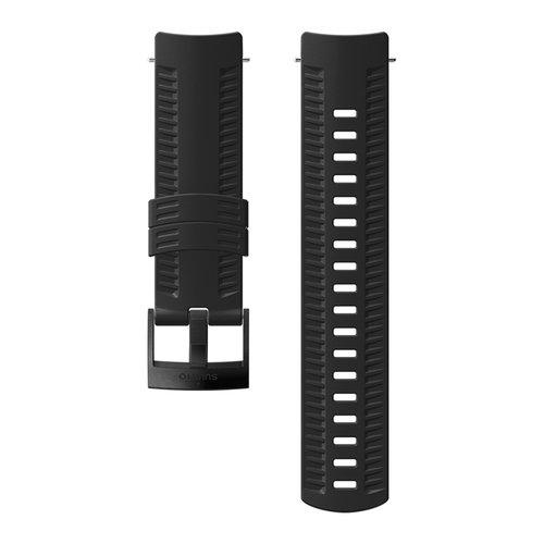 SUUNTO 24mm Athletic 2 Black Black Silicon Strap SS050105000