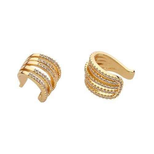 BREEZE Handmade Snail Gold Metal Earrings 210012.1