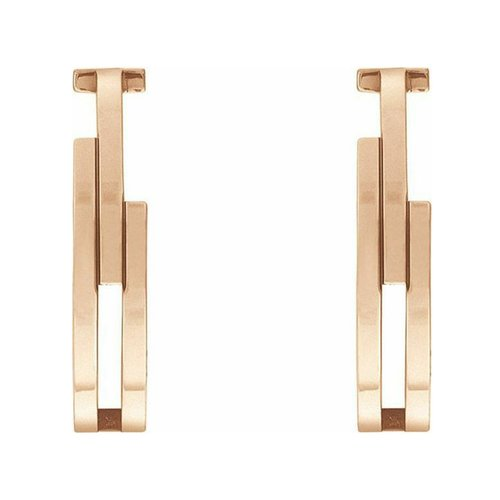 TOMMY HILFIGER Rose Gold Stainless Steel Earrings 2780389