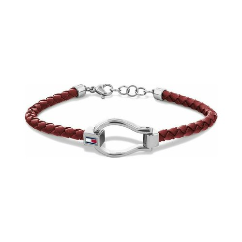 TOMMY HILFIGER Leather Stainless Steel Bracelet 2780398