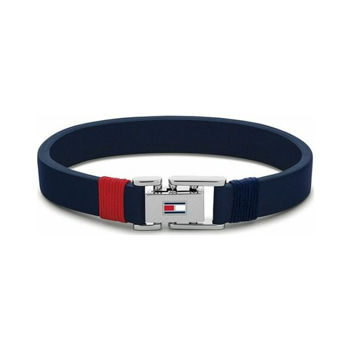 TOMMY HILFIGER Leather Stainless Steel Bracelet 2790226S