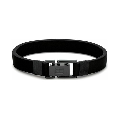 TOMMY HILFIGER Leather Stainless Steel Bracelet 2790228S