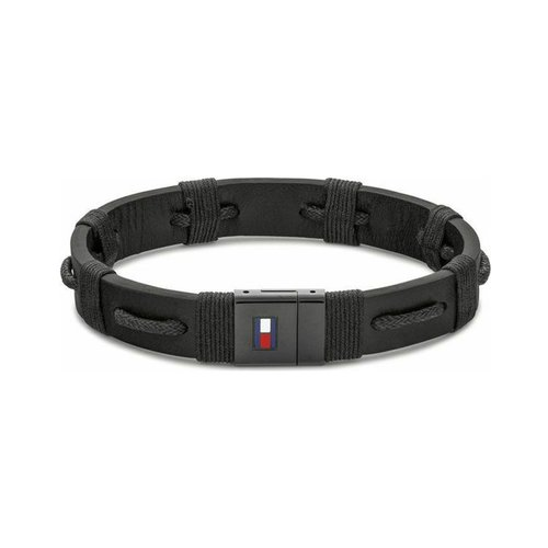 TOMMY HILFIGER Leather Stainless Steel Bracelet 2790237S