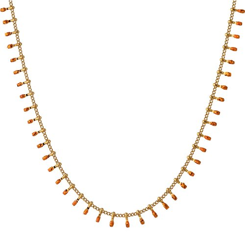 BREEZE Handmade Gold Stainless Steel 45cm Necklace 410023.1A