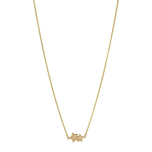 BREEZE Stars Gold Stainless Steel Zircons 50cm Necklace 410026.1