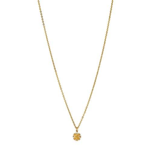 BREEZE Regal Pins Gold Stainless Steel Zircons 45cm Necklace 410027.1