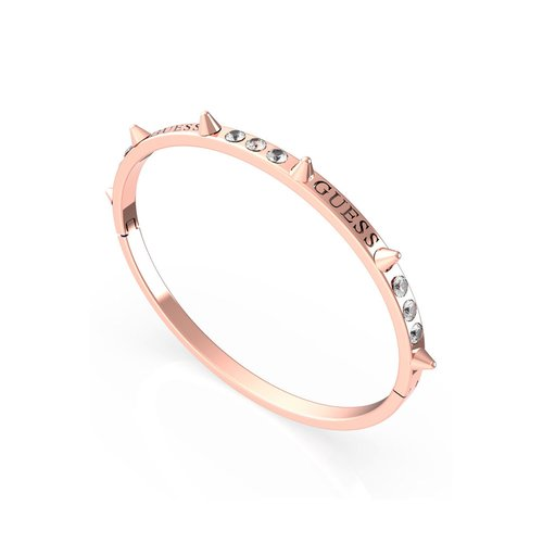 GUESS STEEL Rebel Ροζ Χρυσό Βραχιόλι Με Καρφιά UBB79070-S
