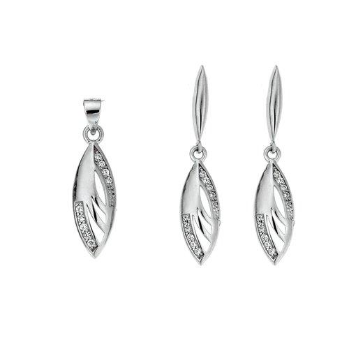 SENZA Silver 925 Set Pendant Earrings SSR1746