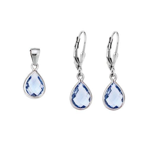 SENZA Silver 925 Set Pendant Earrings SSR1751LL
