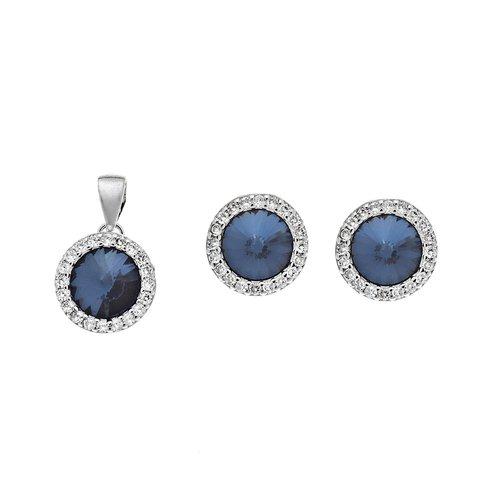 SENZA Silver 925 Set Pendant Earrings SSR2132BL